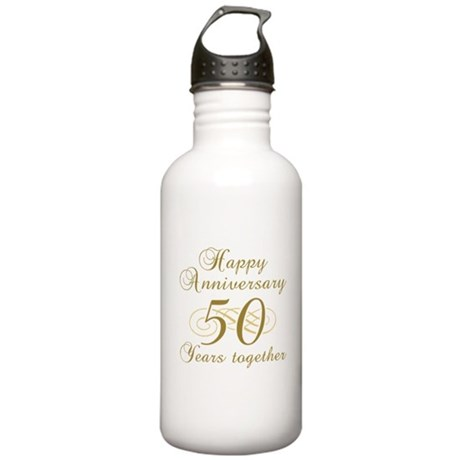 Stylish 50th Anniversary Stainless Water Bottle 1.