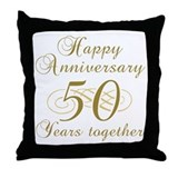 Stylish 50th Anniversary Throw Pillow