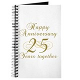 Stylish 25th Anniversary Journal
