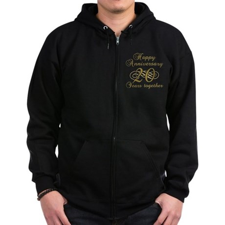 Stylish 20th Anniversary Zip Hoodie (dark)