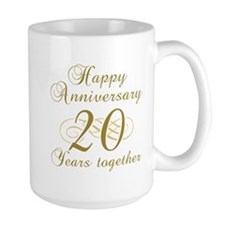 Stylish 20th Anniversary Mug
