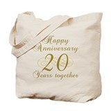 Stylish 20th Anniversary Tote Bag