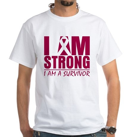 I am Strong Multiple Myeloma White T-Shirt