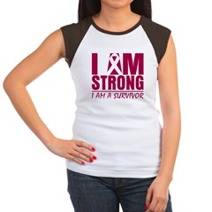 I am Strong Multiple Myeloma Women's Cap Sleeve T-