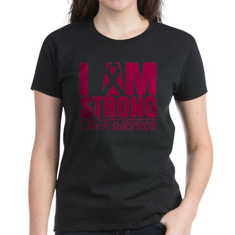 I am Strong Multiple Myeloma Women's Dark T-Shirt