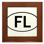 FLORIDA OVAL STICKERS AND MOR Framed Tile