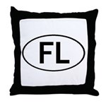 FLORIDA OVAL STICKERS AND MOR Throw Pillow