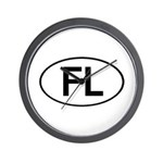 FLORIDA OVAL STICKERS AND MOR Wall Clock