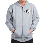 FLORIDA OVAL STICKERS AND MOR Zip Hoodie