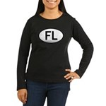 FLORIDA OVAL STICKERS AND MOR Women's Long Sleeve