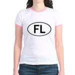 FLORIDA OVAL STICKERS AND MOR Jr. Ringer T-Shirt