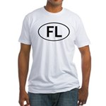 FLORIDA OVAL STICKERS AND MOR Fitted T-Shirt