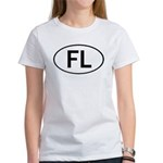 FLORIDA OVAL STICKERS AND MOR Women's T-Shirt