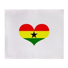 ghana designs Throw Blanket