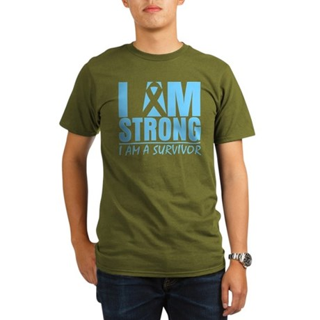 I am Strong Prostate Cancer Organic Men's T-Shirt
