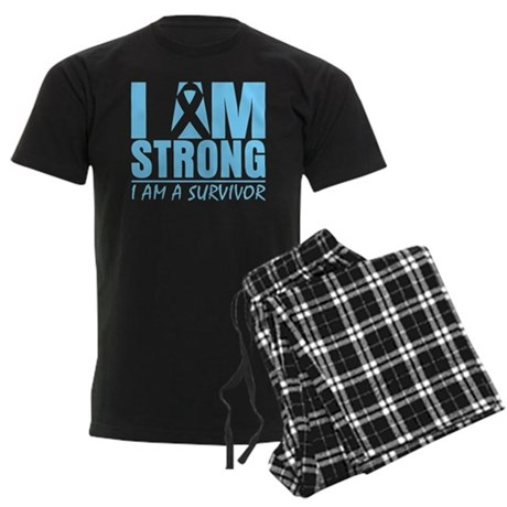 I am Strong Prostate Cancer Men's Dark Pajamas