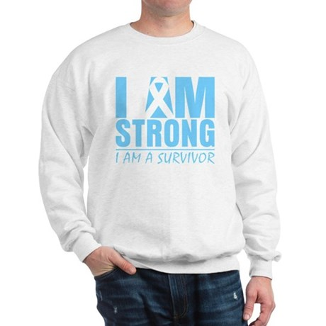 I am Strong Prostate Cancer Sweatshirt