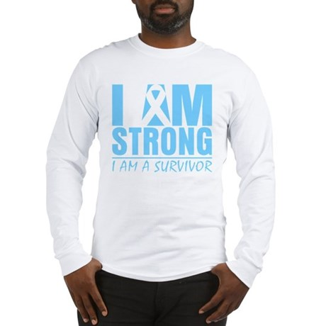 I am Strong Prostate Cancer Long Sleeve T-Shirt