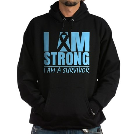 I am Strong Prostate Cancer Hoodie (dark)