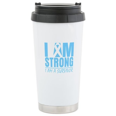 I am Strong Prostate Cancer Ceramic Travel Mug