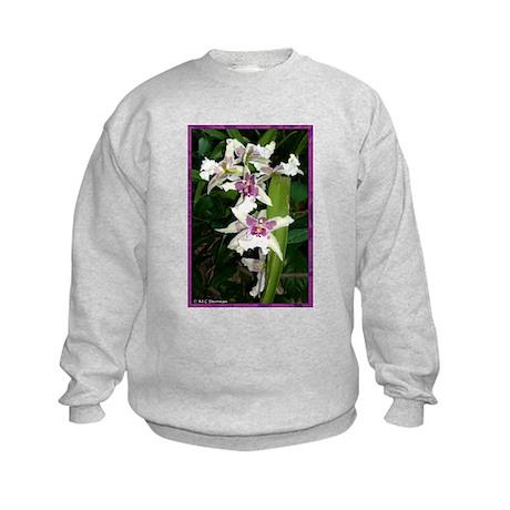 Orchids, beautiful, Kids Sweatshirt