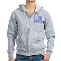 I am Strong Esophageal Cancer Women's Zip Hoodie