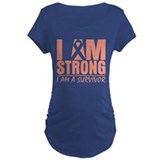 I am Strong Uterine Cancer T-Shirt