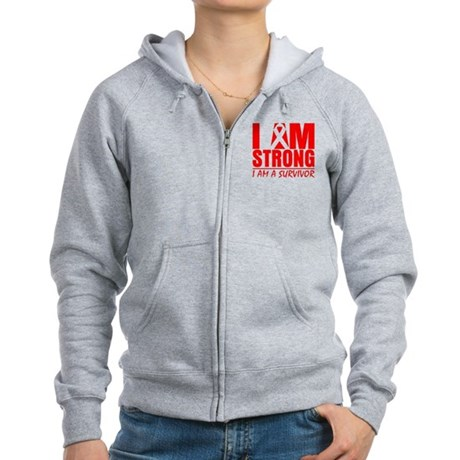 I am Strong Heart Disease Women's Zip Hoodie