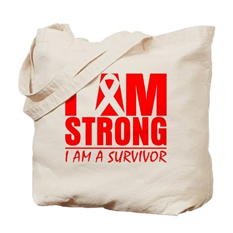 I am Strong Heart Disease Tote Bag