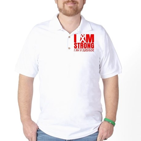 I am Strong Heart Disease Golf Shirt