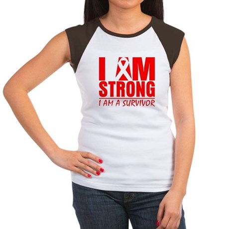 I am Strong Heart Disease Women's Cap Sleeve T-Shi
