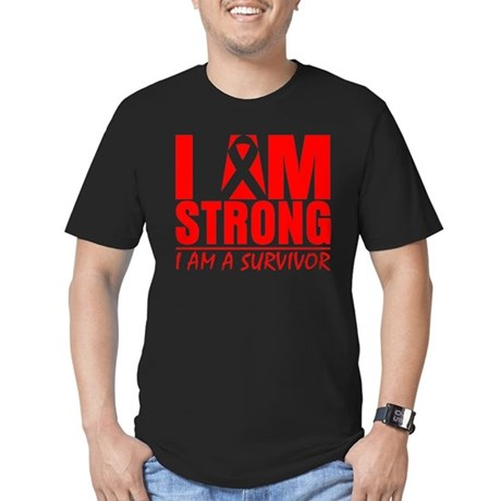 I am Strong Heart Disease Men's Fitted T-Shirt (da