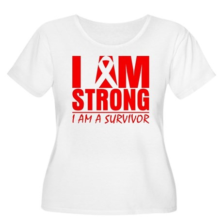 I am Strong Heart Disease Women's Plus Size Scoop