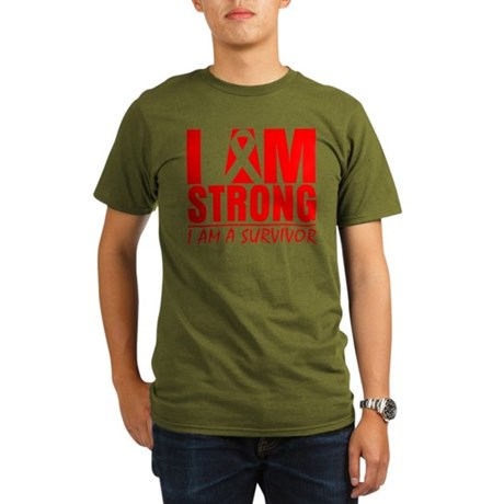 I am Strong Heart Disease Organic Men's T-Shirt (d