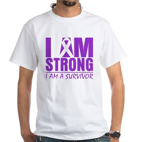 I am Strong Lupus Survivor White T-Shirt