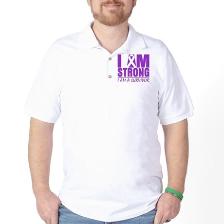 I am Strong Lupus Survivor Golf Shirt