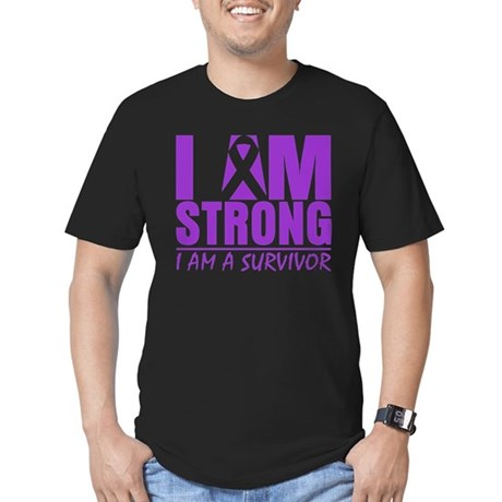 I am Strong Lupus Survivor Men's Fitted T-Shirt (d