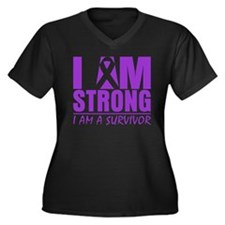 I am Strong Lupus Survivor Women's Plus Size V-Nec