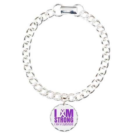 I am Strong Lupus Survivor Charm Bracelet, One Cha