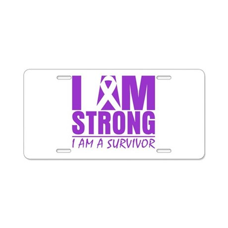 I am Strong Lupus Survivor Aluminum License Plate