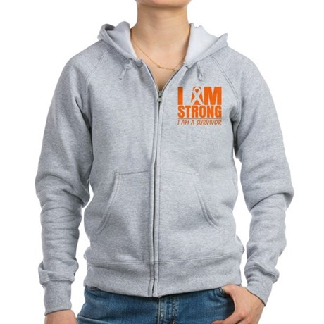 I am Strong Multiple Sclerosis Women's Zip Hoodie