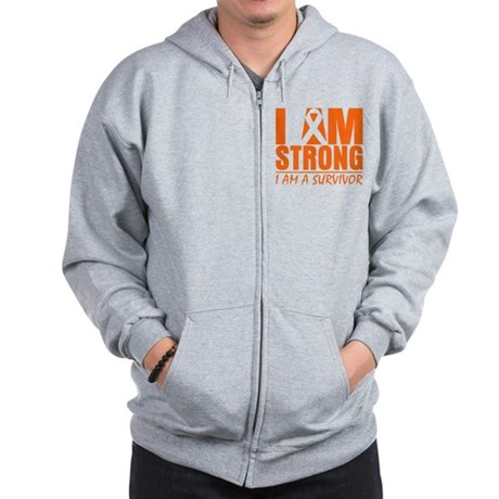 I am Strong Multiple Sclerosis Zip Hoodie