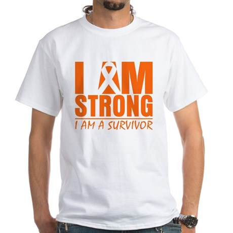 I am Strong Multiple Sclerosis White T-Shirt