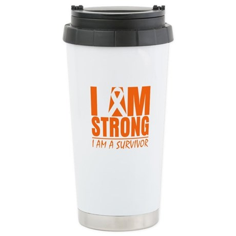 I am Strong Multiple Sclerosis Ceramic Travel Mug