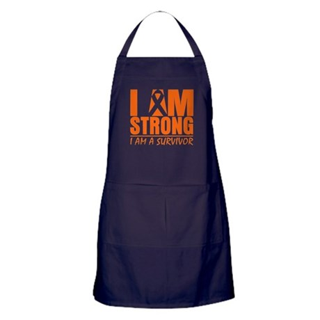 I am Strong Multiple Sclerosis Apron (dark)