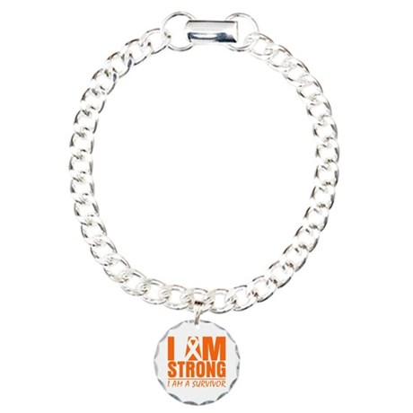 I am Strong Multiple Sclerosis Charm Bracelet, One
