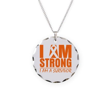 I am Strong Multiple Sclerosis Necklace Circle Cha