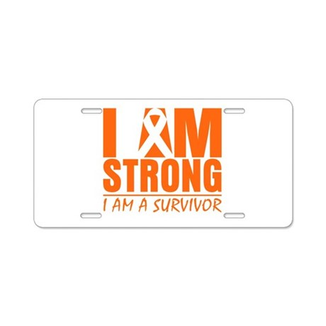 I am Strong Multiple Sclerosis Aluminum License Pl