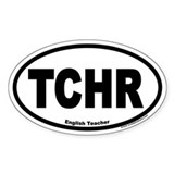 English Teacher TCHR Euro Oval Bumper Stickers
