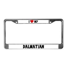 I Love My Dalmatian License Plate Frame